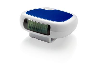 Шагомер с клипсой для ремня и LCD дисплеем, белый/синий, арт. 001858203