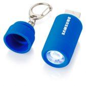 """Мини-фонарь """"Avior"""" с зарядкой от USB, синий"""