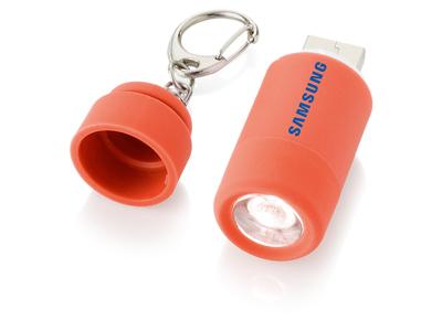 """Мини-фонарь """"Avior"""" с зарядкой от USB, красный, арт. 000803403"""