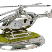 Часы «Вертолет» с посадочной площадкой. Вертолет может «взлетать» и «садиться» на площадку, арт. 000638803