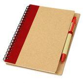 """Блокнот А6 """"Priestly"""" с ручкой шариковой, красный, арт. 000772903"""