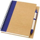 """Блокнот А6 """"Priestly"""" с ручкой шариковой, синий, арт. 000773103"""