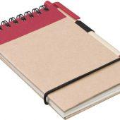 """Блокнот А7 """"Zuse"""" с ручкой шариковой, красный, арт. 000772703"""