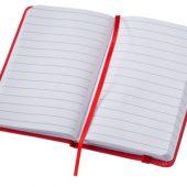 """Блокнот """"Rainbow"""" на 80 листов с эластичной застежкой, красный, арт. 000891003"""