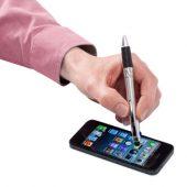 """Ручка-стилус шариковая """"Burnie"""" 3-в-1, серебристый, арт. 001170803"""