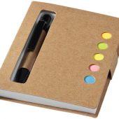 """Набор стикеров """"Reveal"""" с ручкой и блокнотом, натуральный"""
