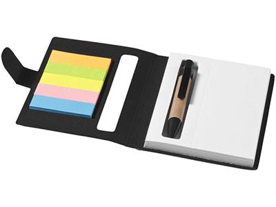 Набор стикеров «Reveal» с ручкой и блокнотом, черный