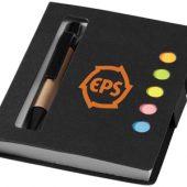 """Набор стикеров """"Reveal"""" с ручкой и блокнотом, черный, арт. 001184503"""
