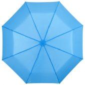 """Зонт складной """"Bernard"""", механический 21,5″, голубой, арт. 000791703"""