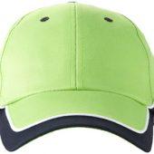 "Бейсболка ""Draw"" 6-ти панельная, зеленое яблоко/темно-синий/белый, арт. 000191303"