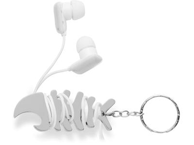Брелок-держатель кабеля в форме рыбной кости, серебр