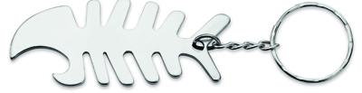 Брелок-держатель кабеля в форме рыбной кости, серебр, арт. 000893403