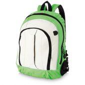 Рюкзак «Arizona» c ручкой и выходом для наушников, зеленый/белый