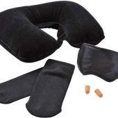 Набор дорожный: повязка для глаз, беруши, надувная подушка, носки, арт. 000810703