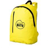 Рюкзак «Boulder» с 1 отделением и передним карманом, неоновый желтый