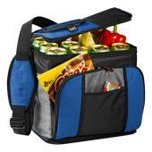 Сумка-холодильник на 24 банки с удобным карманом, синий, арт. 001663003