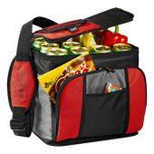 Сумка-холодильник на 24 банки с удобным карманом, красный, арт. 001663103