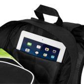 "Рюкзак для планшета ""Branson"", черный/лайм, арт. 001673703"