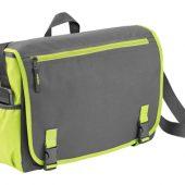 Сумка «Punch» для ноутбука 15,6″, серый/зеленый