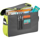 """Сумка """"Punch"""" для ноутбука 15,6″, серый/зеленый, арт. 001676603"""