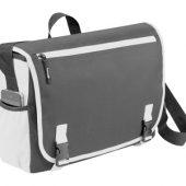 Сумка «Punch» для ноутбука 15,6″, серый/белый