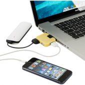 "USB Hub ""Gaia"" на 4 порта, желтый, арт. 001351603"