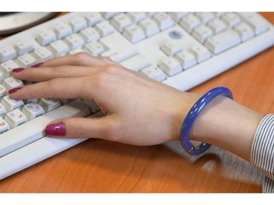 Ручка шариковая-браслет «Арт-Хаус» синяя, арт. 000098903