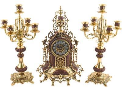 Композиция: интерьерные часы с подсвечниками «Герцог Альба»