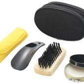 Набор для ухода за обувью: крем черный, ложка, щетка, арт. 000810203