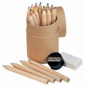 Набор из 24 карандашей с точилкой и ластиком, арт. 000811003