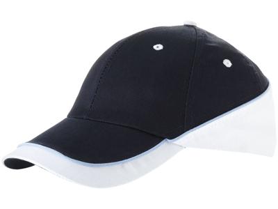 """Бейсболка """"Draw"""" 6-ти панельная, темно-синий/белый, арт. 000191203"""