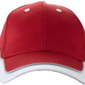"""Бейсболка """"Draw"""" 6-ти панельная, красный/белый, арт. 000191403"""