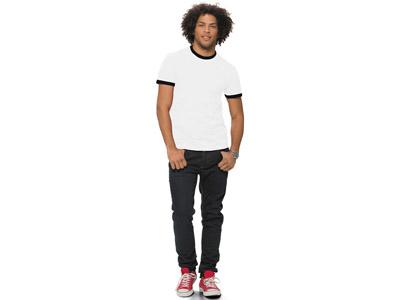 Футболка «Adelaide» мужская, белый/черный ( XL )