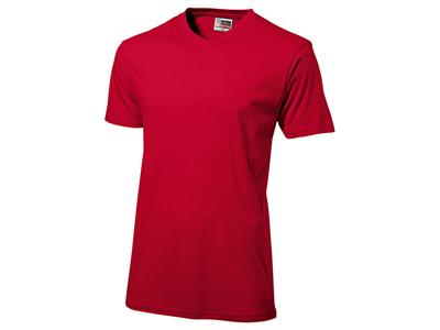 Футболка «Heavy Super Club» мужская с V-образным вырезом, красный ( S )