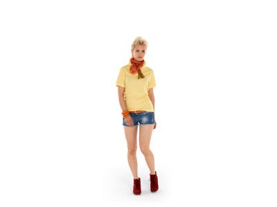 Рубашка поло «Boston» женская, светло-желтый ( S )