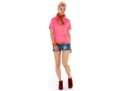 Рубашка поло «Boston» женская, розовый ( XL )