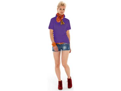 Рубашка поло «Boston» женская, фиолетовый ( XL )