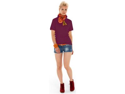 Рубашка поло «Boston» женская, темно-фиолетовый ( XL )