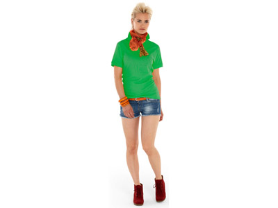Рубашка поло «Boston» женская, зеленый ( XL )