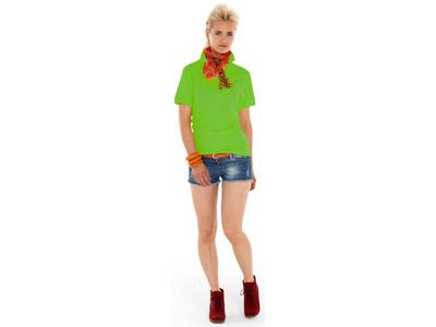 Рубашка поло «Boston» женская, зеленое яблоко ( XL )
