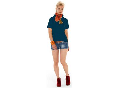 Рубашка поло «Boston» женская, темно-синий ( XL )