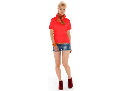 Рубашка поло «Boston» женская, красный ( L )