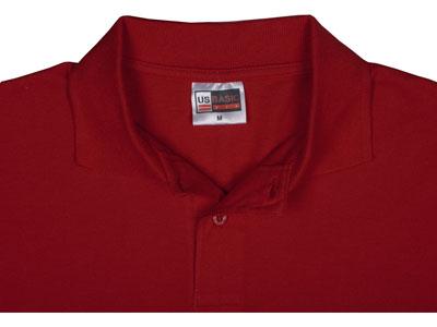 """Рубашка поло """"First"""" мужская, красный ( S ), арт. 000273703"""