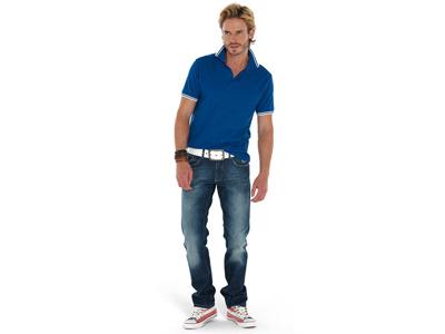 Рубашка поло «Erie» мужская, классический синий ( S )