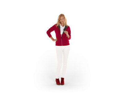 """Куртка флисовая """"Nashville"""" женская, красный/пепельно-серый ( XL ), арт. 000193103"""