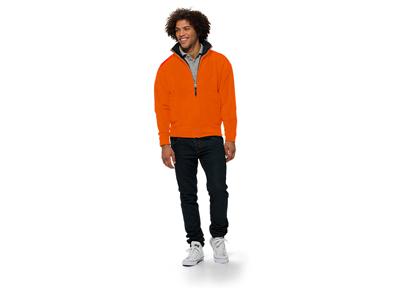 Куртка флисовая «Nashville» мужская, оранжевый/черный ( XL )