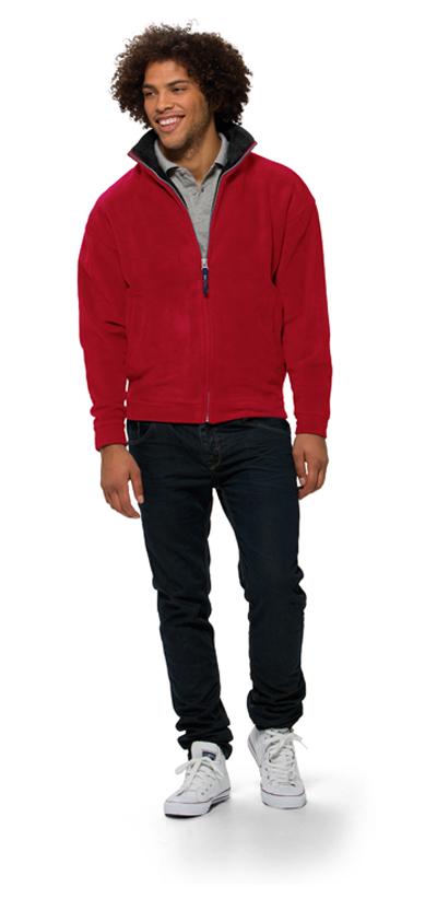 Куртка флисовая «Nashville» мужская, красный/пепельно-серый ( L )