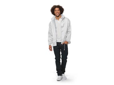 Ветровка «Miami» мужская с чехлом, белый ( L )