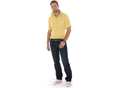 Рубашка поло «Boston» мужская, светло-желтый ( XL )
