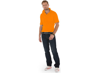 Рубашка поло «Boston» мужская, оранжевый ( XL )